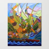 happiness Canvas Prints featuring Happiness by Vargamari