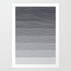 Topography by Friztin Art Print