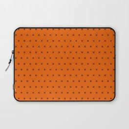 Orange and black cross sign pattern Laptop Sleeve