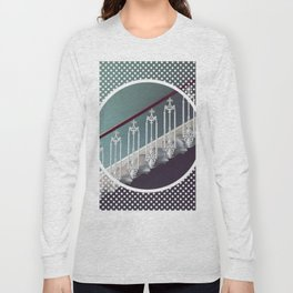 Stairway to heaven - dot circle graphic Long Sleeve T-shirt