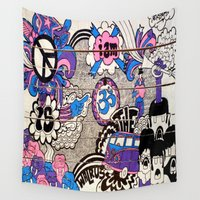 walrus Wall Tapestries featuring I Am The Walrus by benjamin chaubard