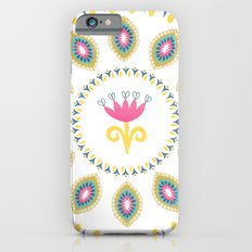 Suzani inspired floral blue 4 iPhone 6s Slim Case
