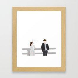 Talking Framed Art Print