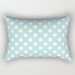 Aqua Dots Pattern Rectangular Pillow