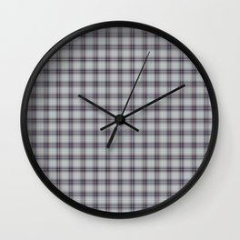 Tartan plaid pattern Wall Clock