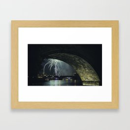 Fireworks by Charles Bridge Framed Art Print