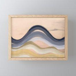Minimal montains Framed Mini Art Print