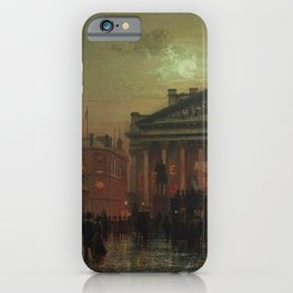 Mansion House, Kings Coronation Eve, London, England by Louis H. Grimshaw iPhone Case