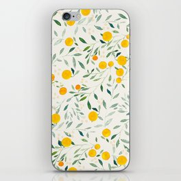 Oranges and Leaves iPhone Skin