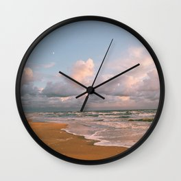 Moon over the Beach Wall Clock