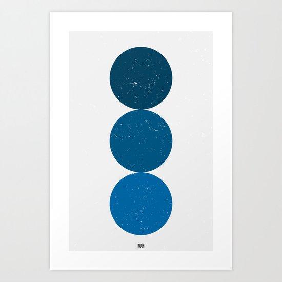 blue i 001 Art Print