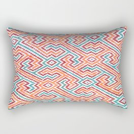 Song to Bring Vision & Insight - Traditional Shipibo Art - Indigenous Ayahuasca Patterns Rectangular Pillow