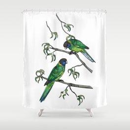Ringneck Parrots Shower Curtain
