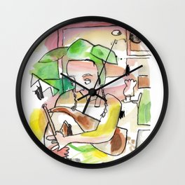 Uilleann Pipes Irish Trad Music Wall Clock