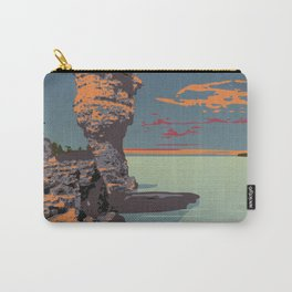 Fathom Five National Park Poster (Flowerpot Island) Carry-All Pouch