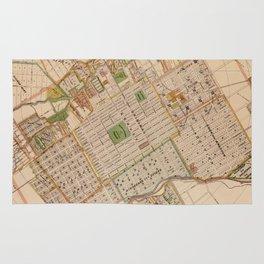 Vintage Map of San Jose California (1886) Rug