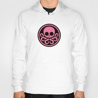 hydra Hoodies featuring Pink Hydra by Arne AKA Ratscape