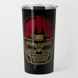 American Football skull Travel Mug