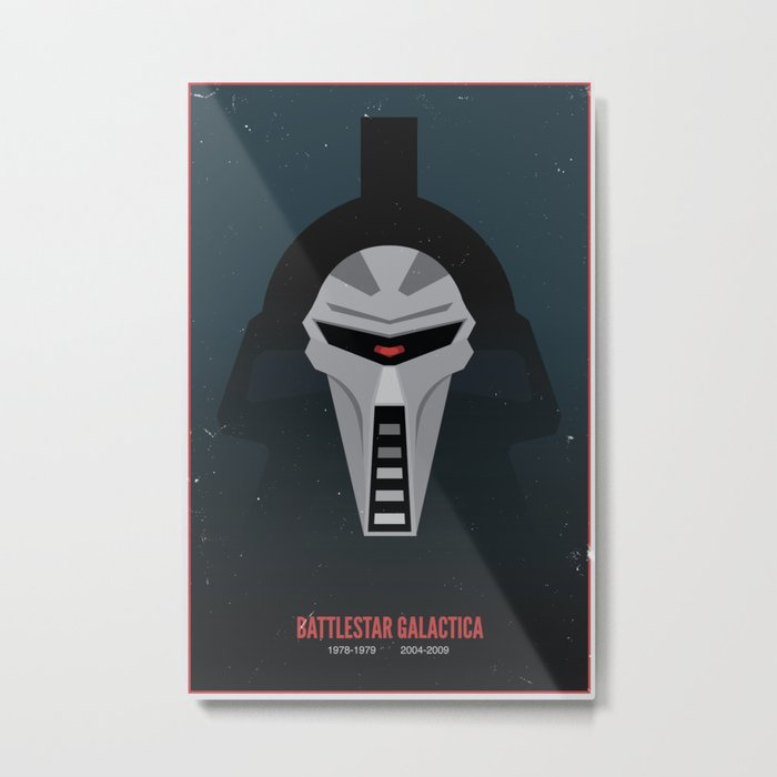 Battlestar Galactica - Old and New Metal Print