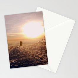 Sunset Skier  Stationery Cards