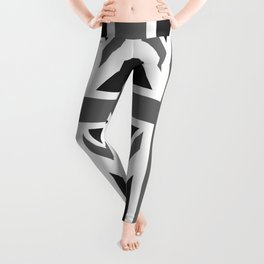 UK Flag 1:2 scale in black & white Leggings