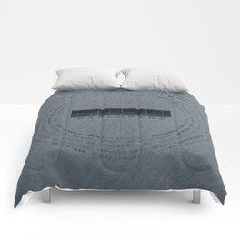 MOON Explorers  - MINIMALIST POSTER Comforters