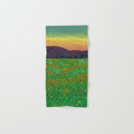 Temecula, California Spring Field of Poppies Hand & Bath Towel