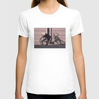1984 T-shirts featuring PARIS BIKE 1984 by Bruce Stanfield