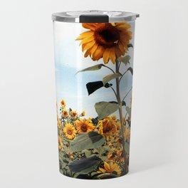 Sunflower Photograph Travel Mug