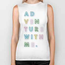 AD VEN TURE WITH ME. Biker Tank