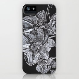 Silver Orchid iPhone Case