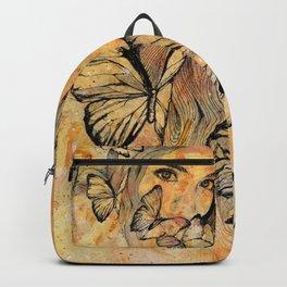 Remain Sedate (butterfly girl street art portrait) Backpack