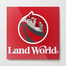 Land World Metal Print