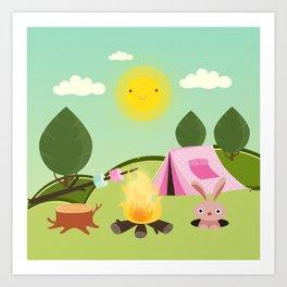 camping , outdoors , nursery decor , Art Print