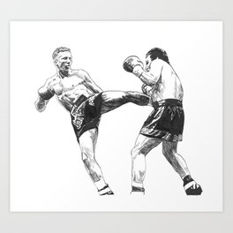 "Ramon ""The Diamond"" Dekkers Art Print"