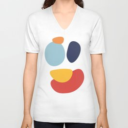 Abstract No.8 Unisex V-Neck