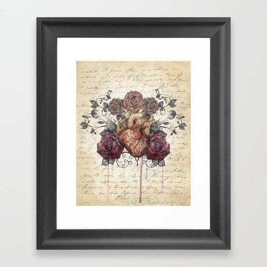 Flowers from my heart Framed Art Print