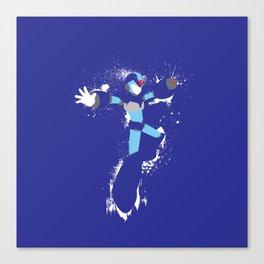 Mega Man X Splattery Design Canvas Print