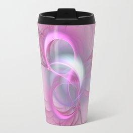 Pink Abstract Fractal on Pink Travel Mug