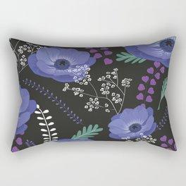 Anemones I: cold in circle Rectangular Pillow