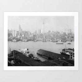 New York skyline from Brooklyn Art Print