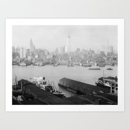 New York skyline from Brooklyn Art Print