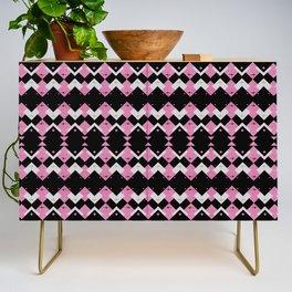 Pink Flamingos Art Deco Pattern Credenza