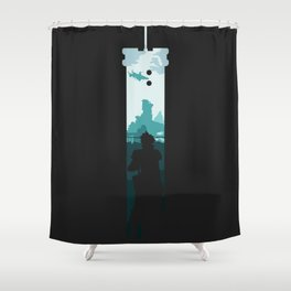 The Buster Sword Shower Curtain