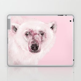 Polar Bear in Pink Laptop & iPad Skin