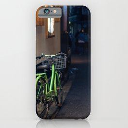 View down a street in the Gion district in Kyoto, Japan iPhone Case