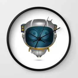 Abo on space Wall Clock