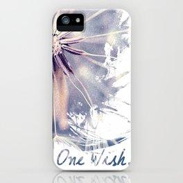 Dandelion Blue Graphic - Vertical iPhone Case