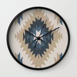Santa Fe Southwest Native American Indian Tribal Geometric Pattern Wall Clock