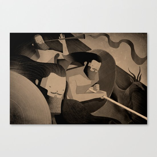 Gadite Warriors (by Andrew Lyons) Canvas Print